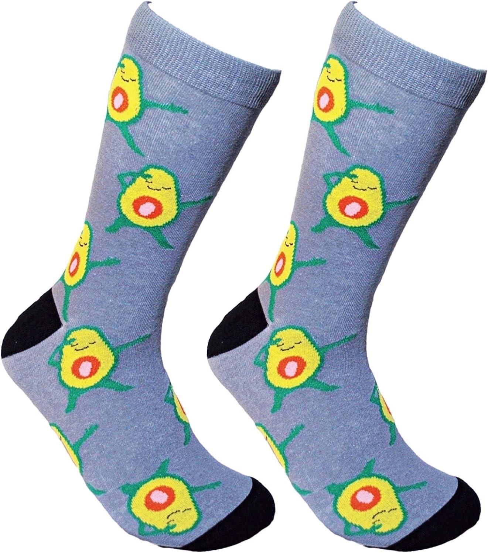 Avocado Socks Cool Fun Socks - Funny Socks For Men Fruit Socks Food Socks Novelty Socks Crazy Socks Meme Dress Socks