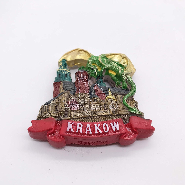 Dragón 3D Cracovia Polonia Imán de Nevera Recuerdos de Viaje ...