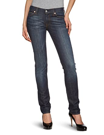 Womens Mid Rise Roxanne Slim Jeans 7 For All Mankind 0tK9m0b6P