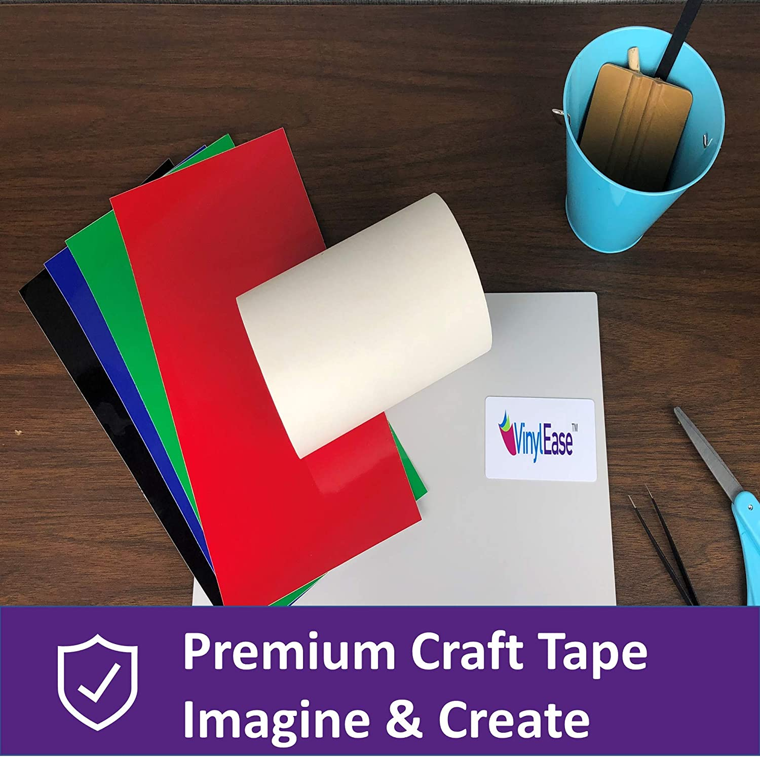 Wall Words and More Works with a Variety of Vinyl Signs Vinyl Ease 6 inch x 150 feet roll of Paper Transfer Tape with a Medium Tack Layflat Adhesive V0843 Great for Decals