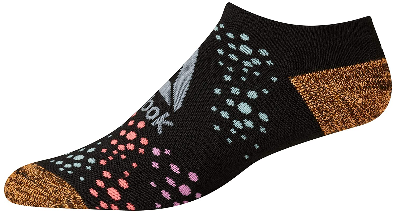 6 Pack Reebok Girls Cushioned Comfort Athletic Performance No-Show Ankle Low Cut Socks