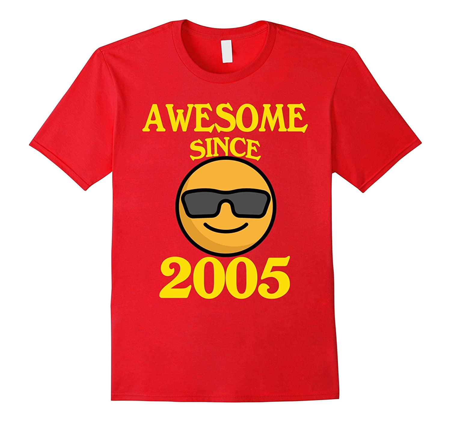 Cool face awesome since 2005 shirt 12 years old 12th shirt for Cool t shirts for 12 year olds