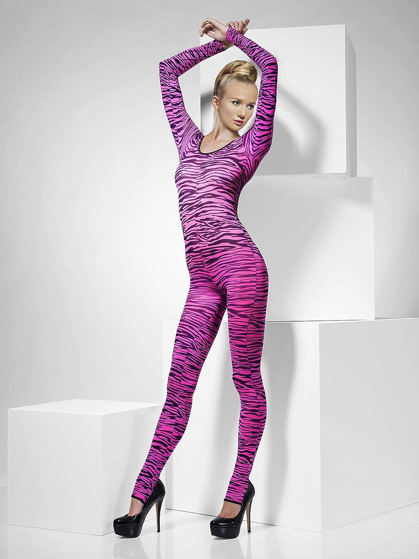 Fever Women's Zebra Print Bodysuit One Size Colour: Black and White 26803 Fever Costumes