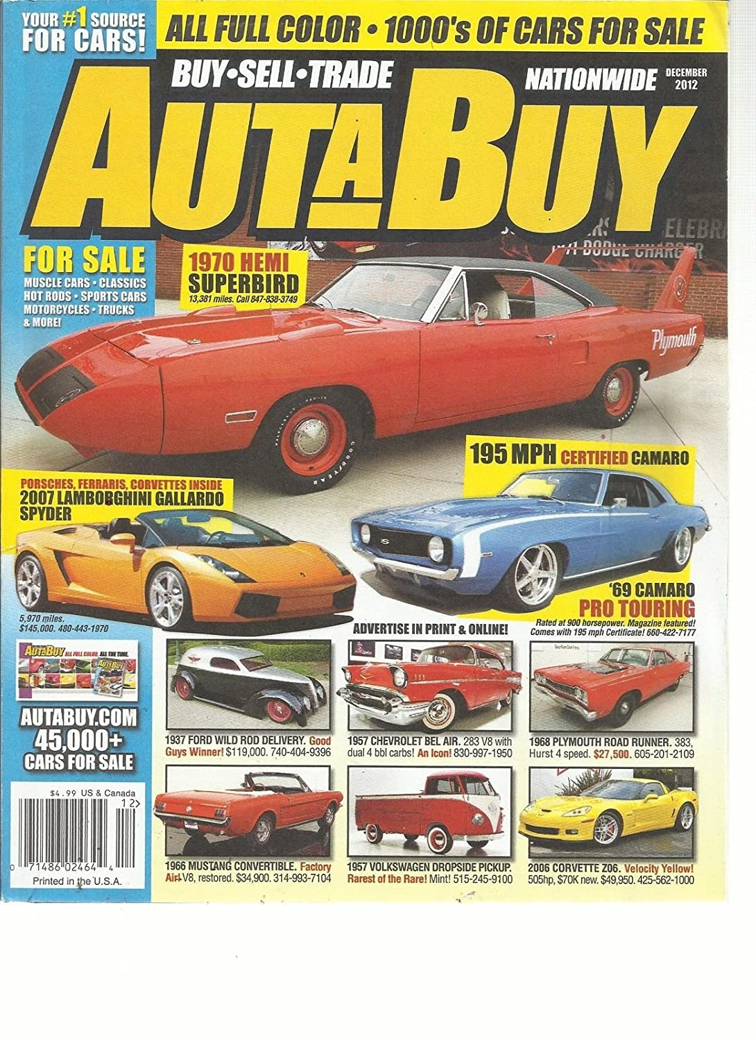 Auta Buy Cars December 2012 Sell Trade 1966 Chevy Bel Air For Sale Nationwide Your 1 Source Everything Else