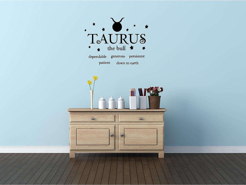 Amazon.com: Taurus el toro Horóscopo Zodíaco pared vinilo ...
