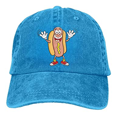New Baseball Caps Men and Women Hot Dog Cartoon Jeans Personalized ... aac777e2800