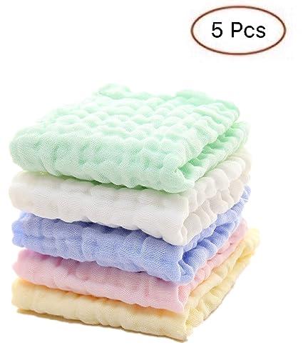 Toallitas para bebés de muselina para bebés recién nacidos - Toallitas extra suaves de algodón orgánico natural - Toallita para toalla facial ...