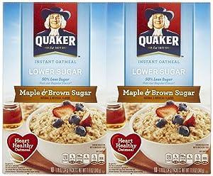Quaker Oatmeal Instant Oatmeal Maple & Brown Sugar Lower Sugar -