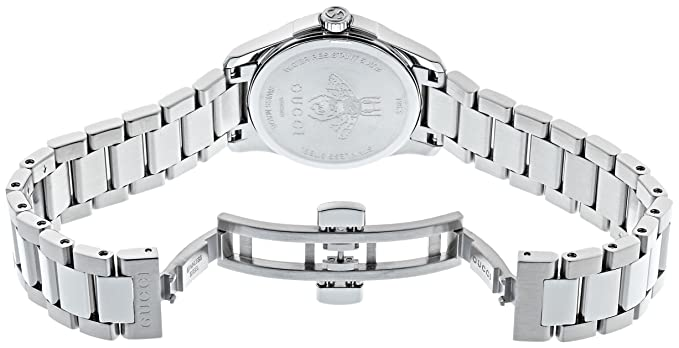 Amazon.com: Gucci Quartz Stainless Steel Casual Silver Toned Womens Watch(Model: YA126573): Watches