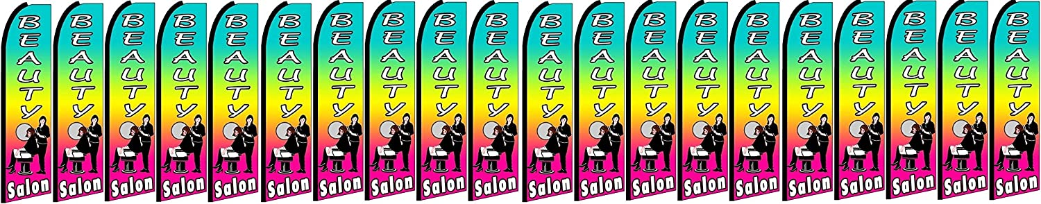 BEAUTY SALON King Swooper Feather Flag Sign Pack of 20 hardware not included