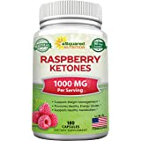 All Natural Raspberry Ketones 1000mg - 180 Capsules - Weight Loss Supplement, Max Strength Plus Appetite Suppressant Diet Pil