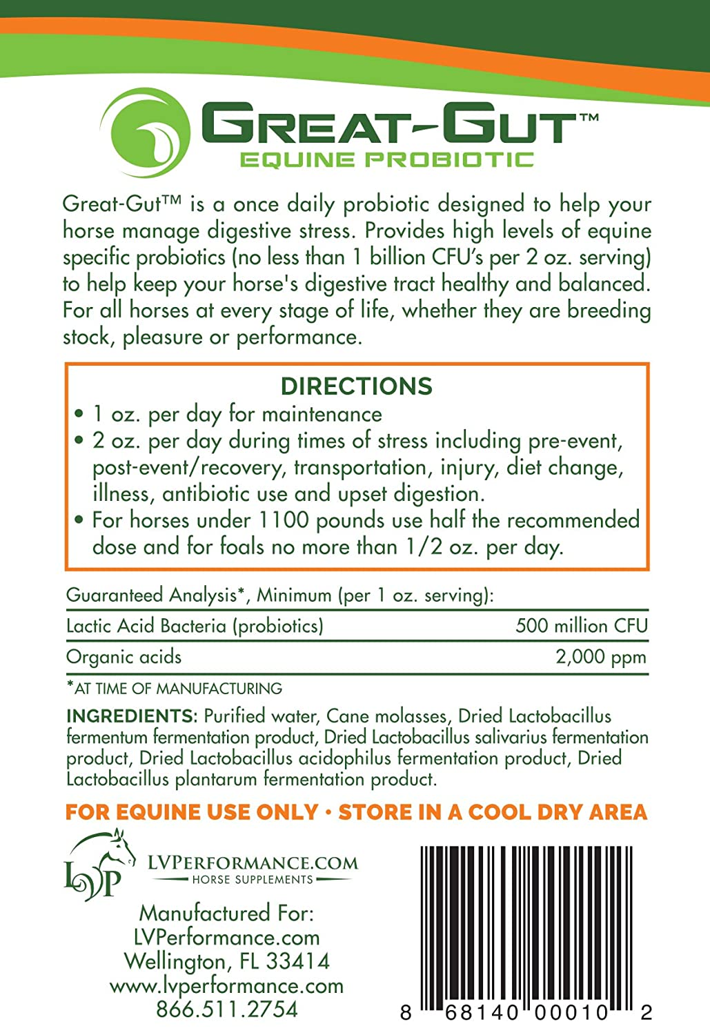 Amazon.com: great-gut Equino Specific Probiotic: Mascotas