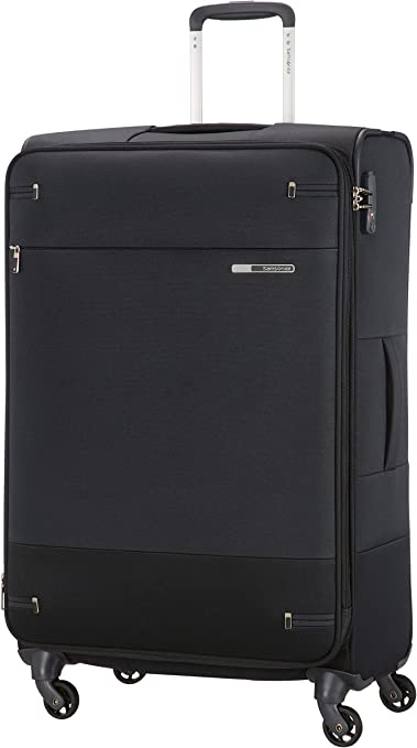 Imagen deSamsonite Base Boost Spinner M Maleta Expansible, 78 cm, 105/112.5 L, Negro (Black)