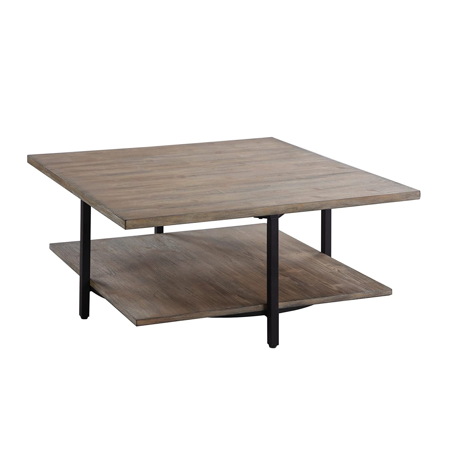Amazoncom Emerald Home Turner Driftwood Coffee Table With