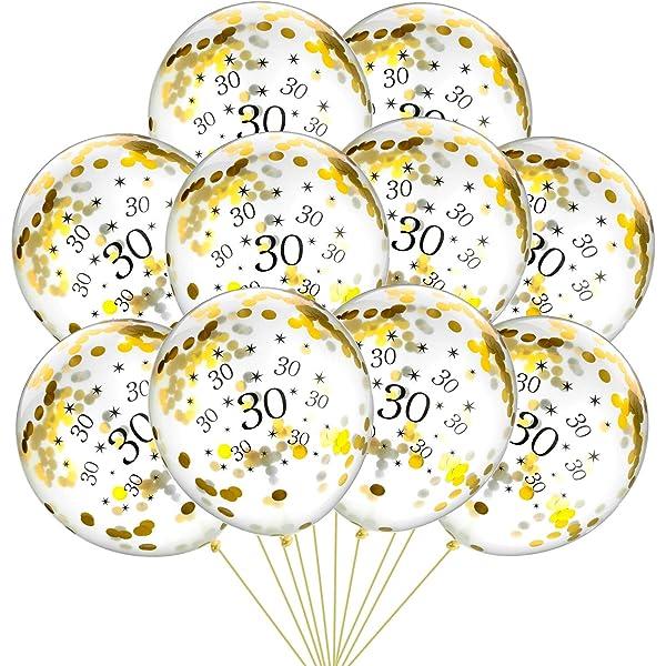 Shappy Confeti Brillante de Número 30 para Trigésimo ...