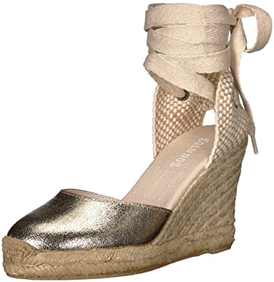 0b1a0e101f3 Amazon.com | Soludos Women's Metallic Tall Wedge Pump | Pumps