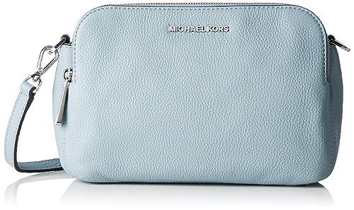 120f61e85f00a Amazon.com: Michael Kors Bedford Double Zip Messnger Bag (Dusty Blue ...