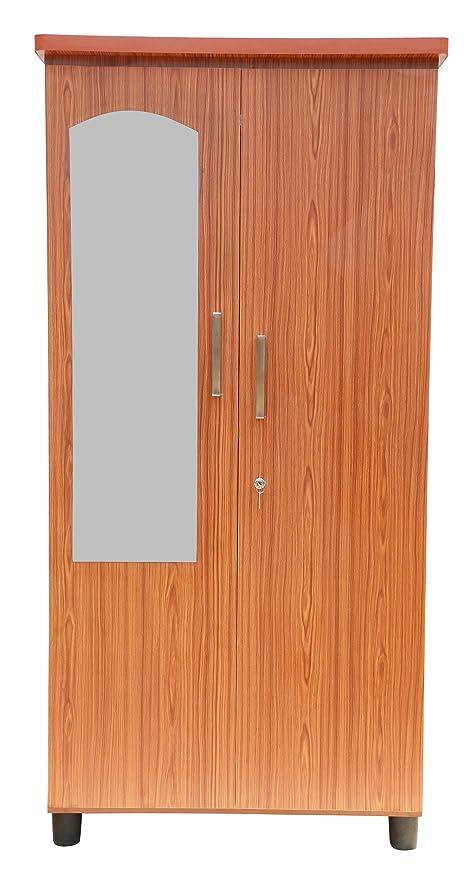 Hudson Two Door Wardrobe Wooden Almirah Cabinet In Teak