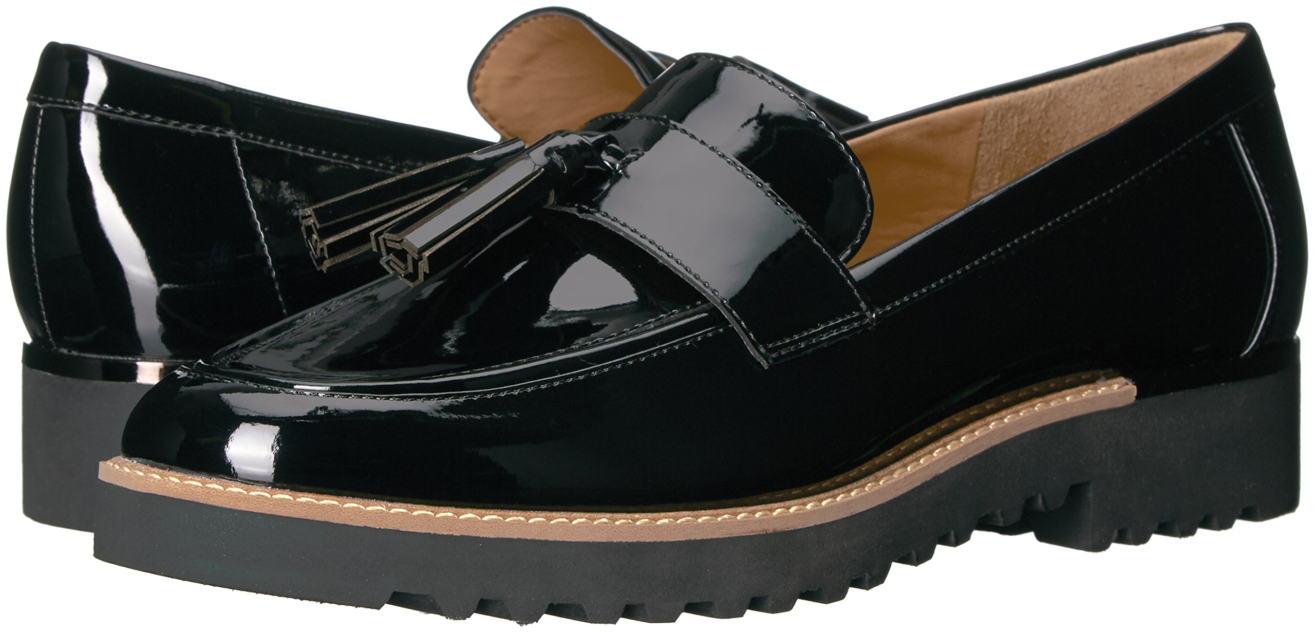 Franco Sarto Women's Carolynn Loafer Flat, Black, 9 M US by Franco Sarto (Image #6)