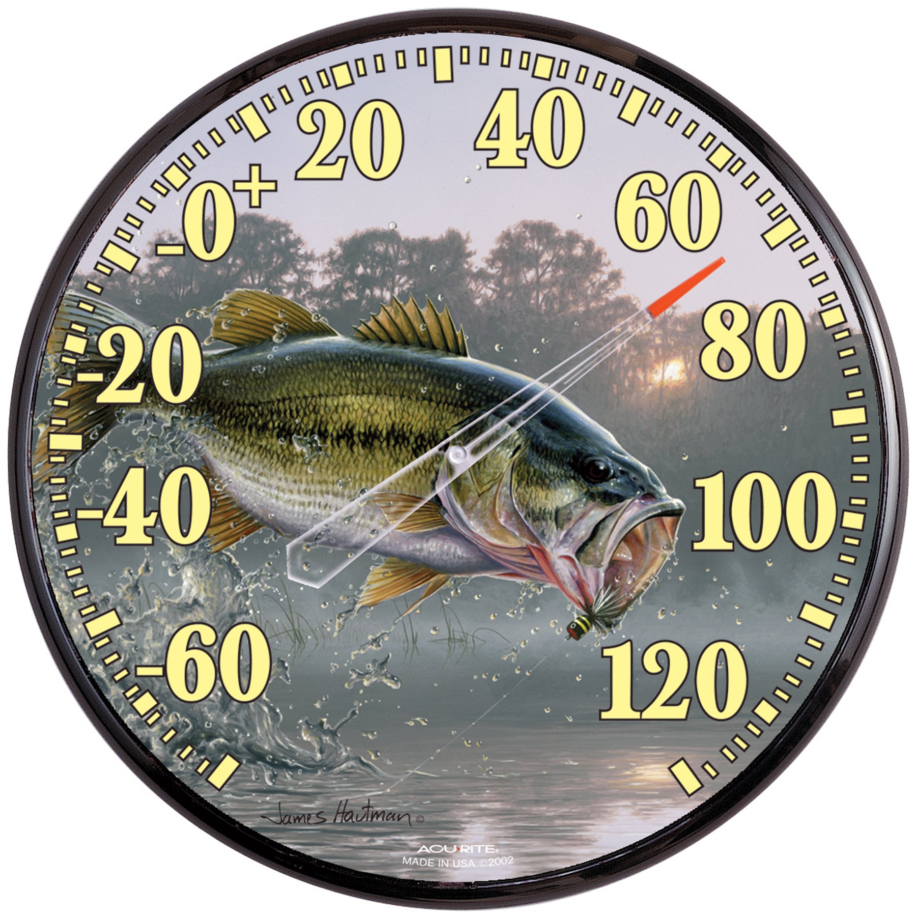 AcuRite 01776 12.5-Inch Wall Thermometer, Bass