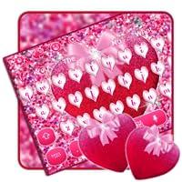 Glitter Pink Heart Keyboard Theme