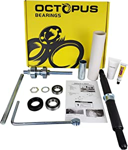PREMIUM QUALITY COMPLETE Cabrio Bearing Seal Kit Assembly with Shaft and Tool Set with Premium Box. Replacement for W10435302 and W10447783 by OCTOPUS