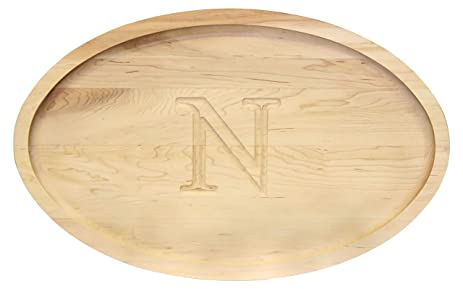 Amazon.com: BigWood Boards 420-N Oval Trencher Carving Board, 15 ...