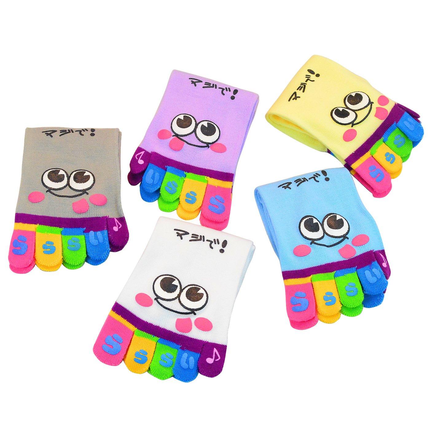 Lystaii 5 Pairs Soft Crew Socks Cotton Comfortable Socks Unisex Random Color