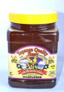 product image for Topanga Quality Honey (Wildflower Floral Source) Raw, Unfiltered, Unpasturized, Best Quality, All Natural, Kosher - 3 Pounds Each