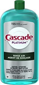 Cascade Rinse Aid Platinum, Dishwasher Rinse Agent, Power Dry, 16 ounce
