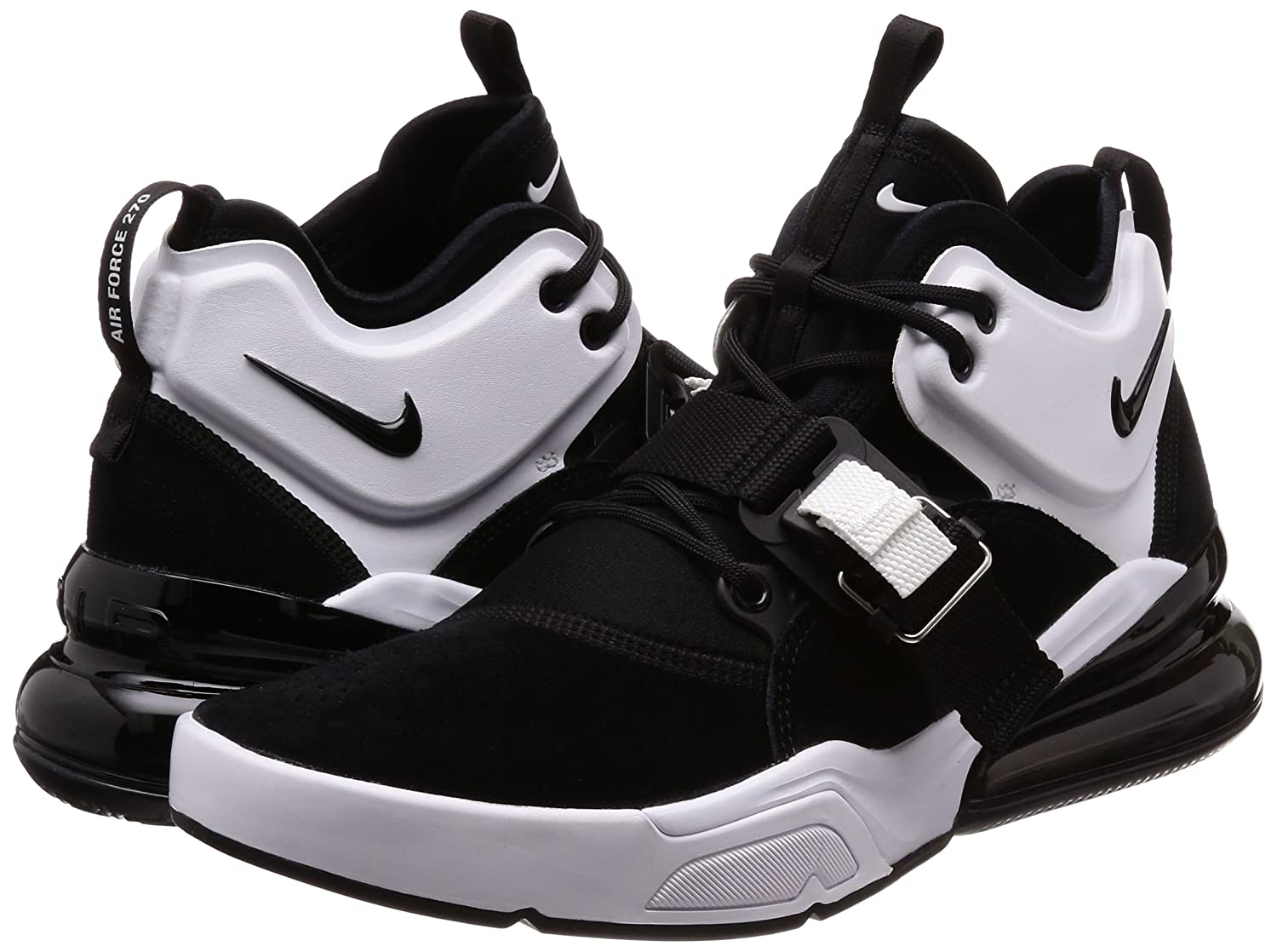 info for 814d8 1e3ee Amazon.com   NIKE Air Force 270 Men s Running Shoes Black White ah6772-006    Shoes