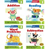 Kumon Workbook First Grade Prep Bundle Including Addition, Subtraction, Reading, and Word Problem Books