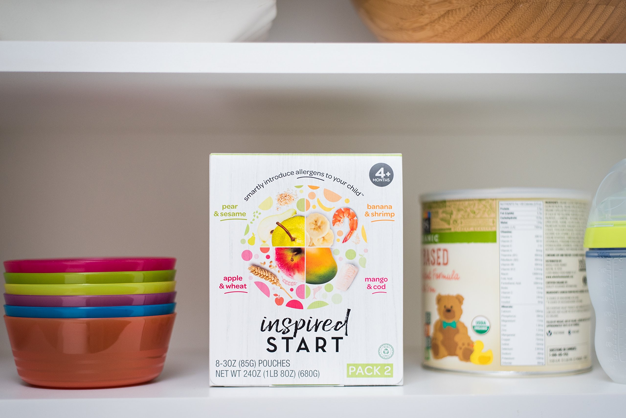 Early Allergen Introduction Baby Food: Inspired Start Pack 2, 3 oz. (Pack of 8 baby food pouches) - Non-GMO, include wheat, sesame, shrimp and cod in baby's diet by Inspired Start (Image #5)