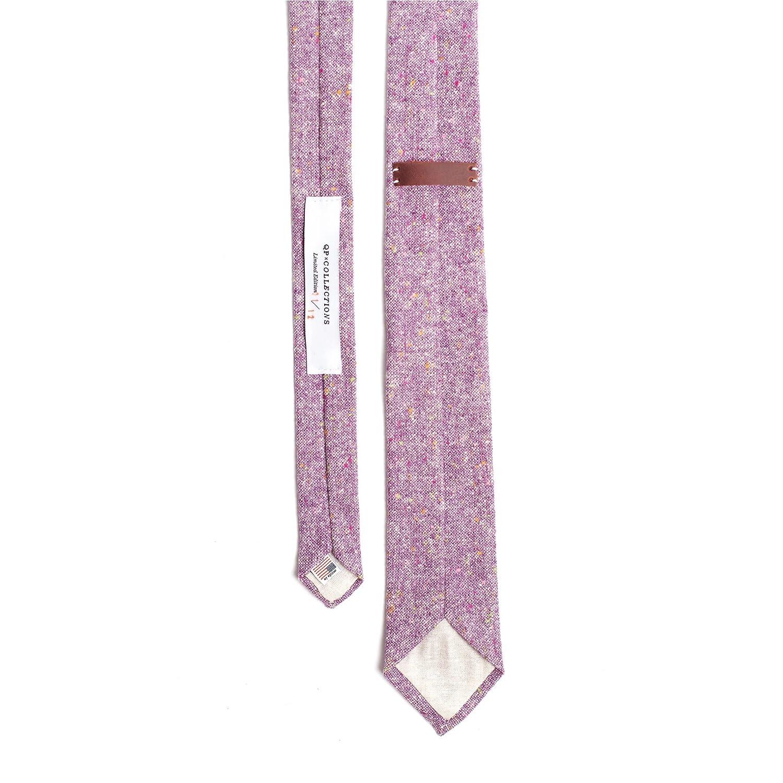Wool Tweed Purple Necktie