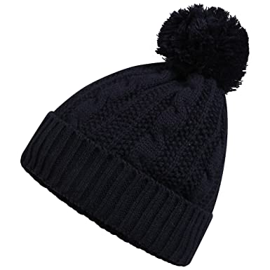 Mens Pro Climate 3M Thinsulate Waterproof and Windproof Pom Pom Beanie Hat  (Navy) a6b68071385