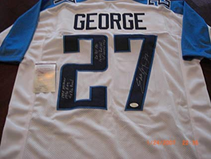finest selection 07def 1c459 Signed Eddie George Jersey - 96 Roy 10 441 Yds 78 Tds 4x ...