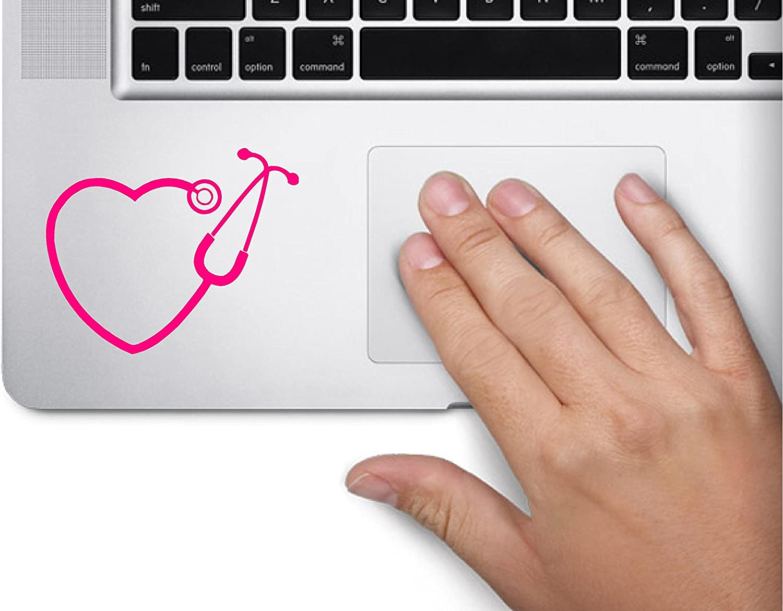 Stethoscope RN heart nurse Symbol Decal Laptop Skin Macbook Trackpad Keypad Sticker