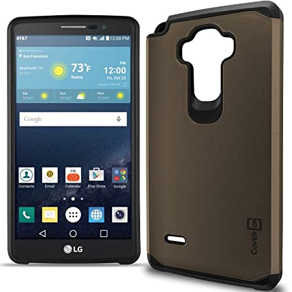 buy online 3e66c 80ce8 LG G Vista 2 Case, CoverON [Slim Guard Series] Slim Dual Layer Armor Hard  Cover Thin TPU Phone Case For LG G Vista 2 - Gray & Black