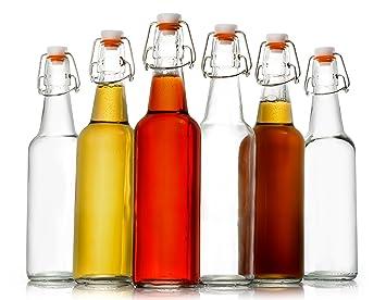 Zuzoro Botella de cerveza de cristal para casa Kombucha o cerveza – Caja de cristal transparente