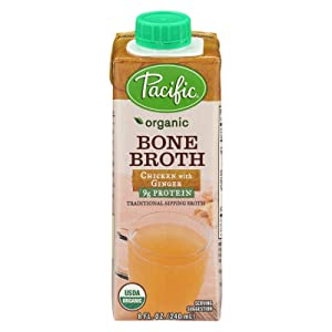 Pacific Foods, Organic Bone Broth - Chicken with Ginger (Pack of 12)