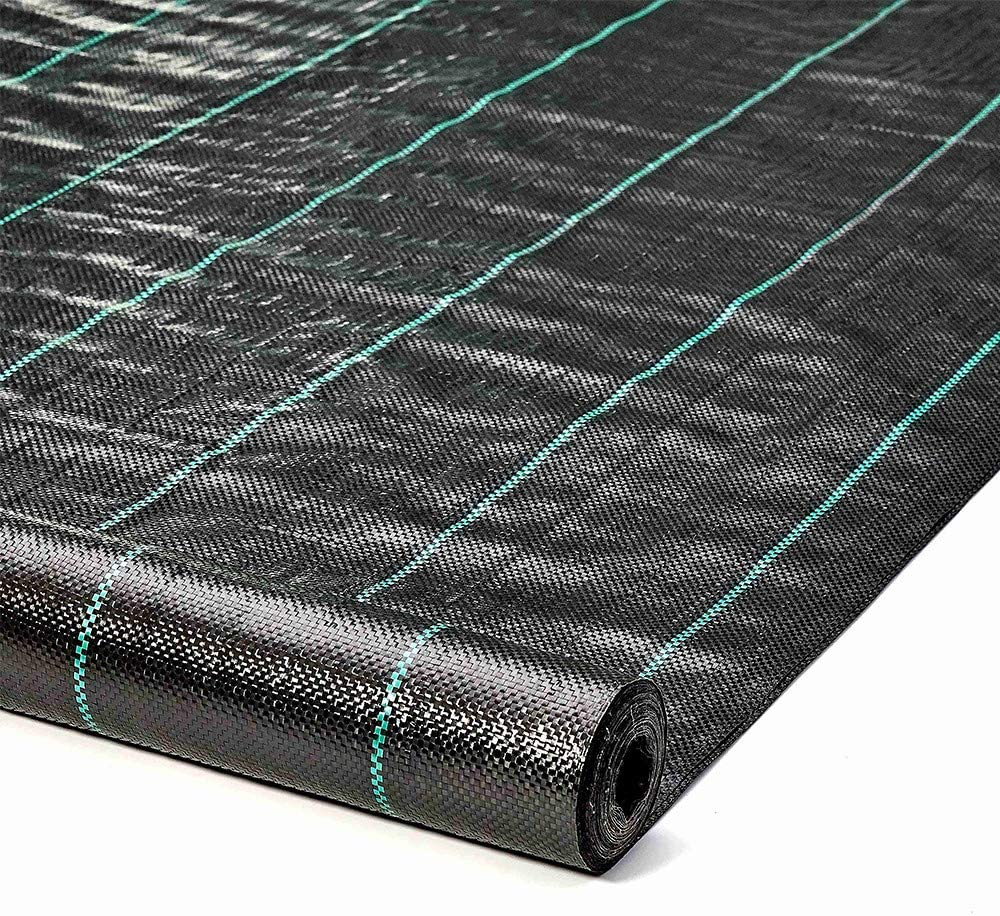 ALTRUISTIC Weed Barrier Landscape Control Fabric Ground Cover Garden Weed Block Nonwoven Heavy Duty Landscaping (3FTX100FT)