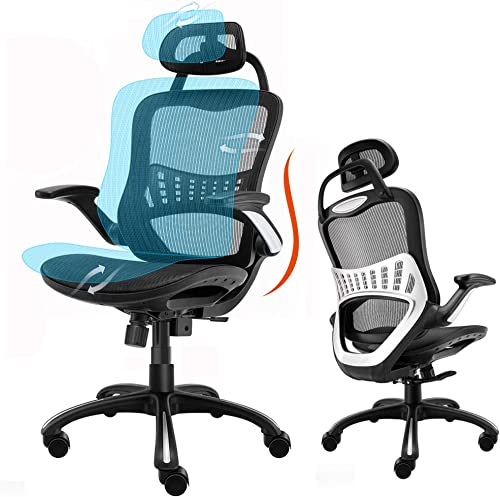 Ergonomic Office Chair High Back Adjustable Height Rolling Swivel Computer Task Chair Reclining Breathable High-Density Mesh Desk Chair