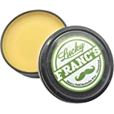 Mustache Wax. Large 2oz. Size Strong Hold Unscented. Handlebars, Fu Manchu, Curly, or Any Style! Natural & Handmade in US. Works as Beard Wax Too! *Lucky Franc's Brand*