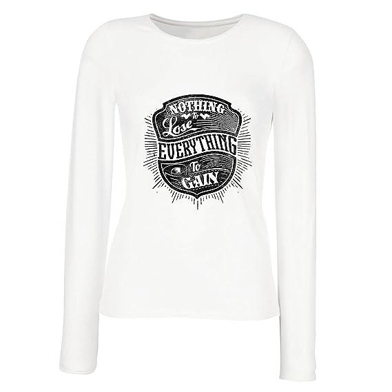 lepni.me Camisetas Hombre Nada Que Perder - Todo Para Ganar - Citas Inspiradoras y motivadoras, Frases alentadoras