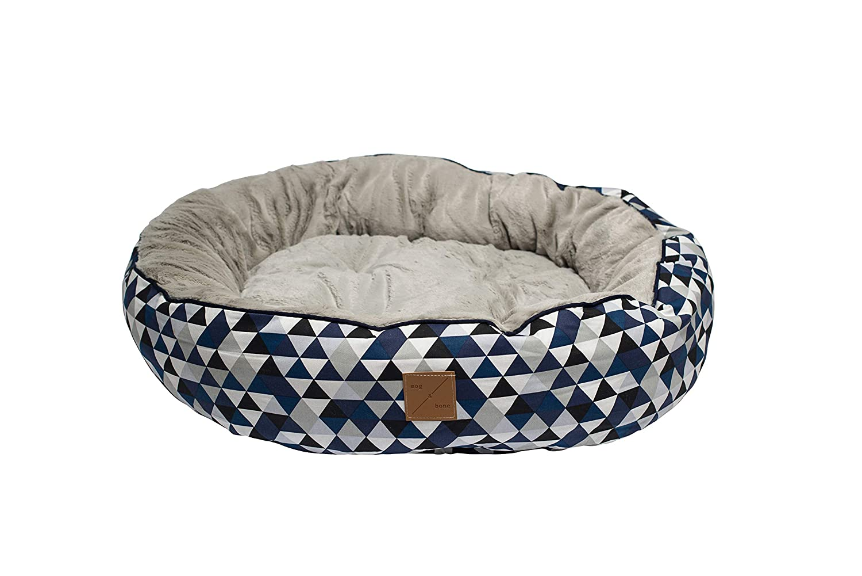 bluee Diamond Print Small bluee Diamond Print Small Mog & Bone 4 Seasons Reversible Dog Bed bluee Diamond Print