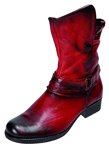 b8b64d00915dbc Miccos Shoes Damen Stiefel Stiefelette D.RV-Stiefel in dunkelrot ...