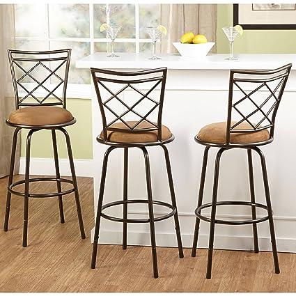 Terrific Amazon Com Love Us Adjustable Height Bar Stool Swivel Dailytribune Chair Design For Home Dailytribuneorg