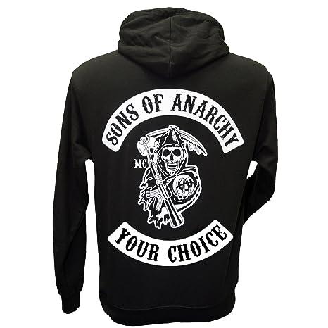 Sudadera con capucha de Sons of Anarchy - Parche Redwood Original de Jax Teller: Amazon.es: Ropa y accesorios