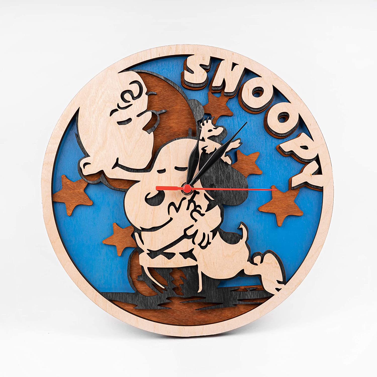 A picture of the snoopy clock to better elaborate Cartoon Clocks: some of the most intriguing 2020