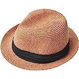 nakota (ナコタ) ペーパーハット メンズ レディース 麦わら帽子 折りたたみ 中折れ 帽子 紫外線対策 春夏 ハット ストローハット 大きいサイズ キッズ リボン 子供 日よけ UVカット